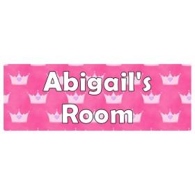 Crown Pink Door Sign