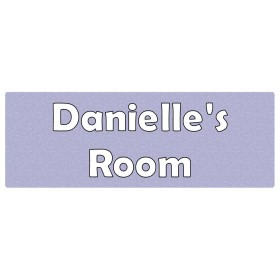 Swirls Lavender Door Sign