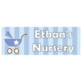 Nursery Blue Door Sign