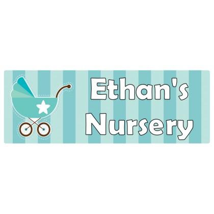 Nursery Turquoise Door Sign