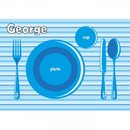 Blue Plate Placemat