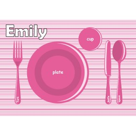 Pink Plate Placemat
