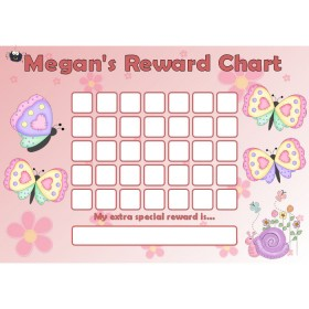 Butterfly Reward Chart Blank