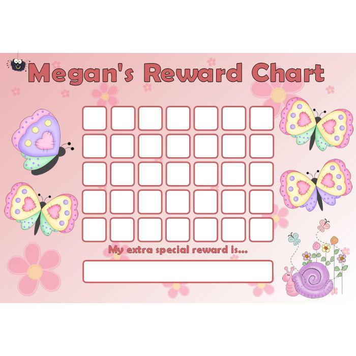 Butterfly Reward Chart Blank – Blank Reward Chart
