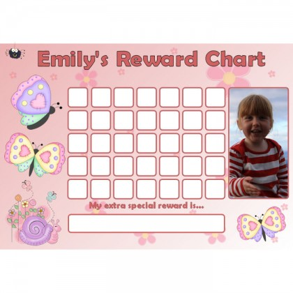 Butterfly Reward Chart Blank Photo