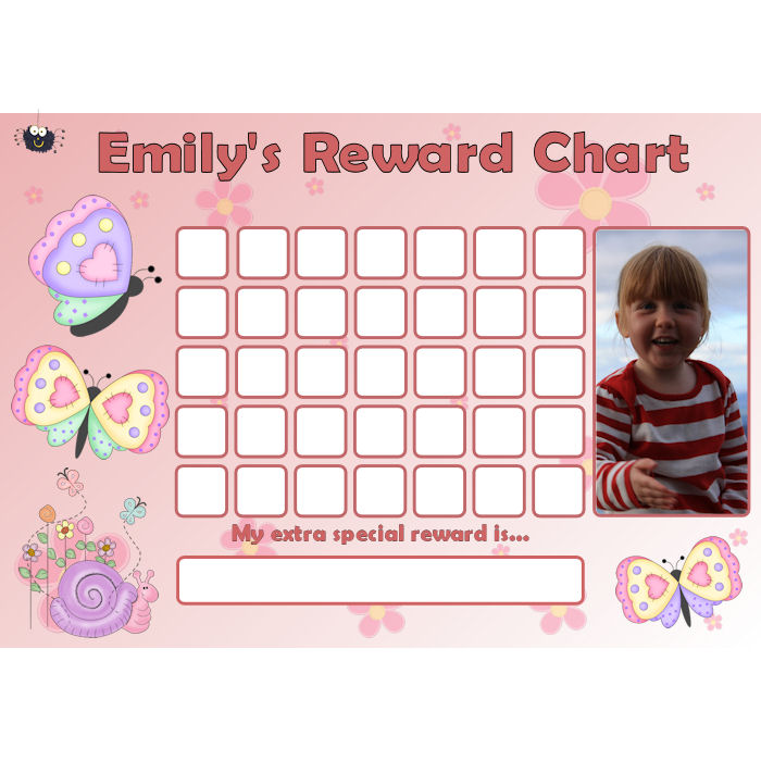 Butterfly Reward Chart Blank Photo