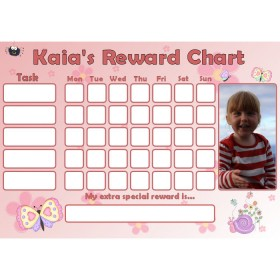 Butterfly Reward Chart Task with Days Photo