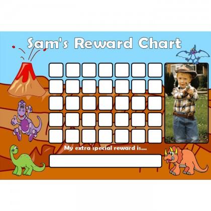 Dinosaur Reward Chart Blank Photo
