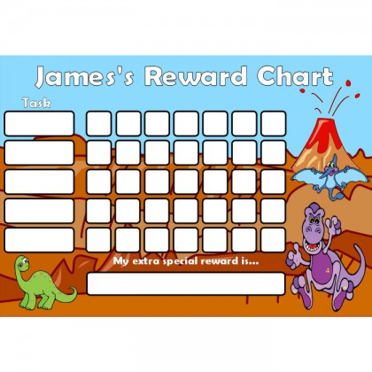 Dinosaur Reward Chart Task