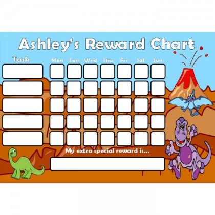 Dinosaur Reward Chart Task with Days
