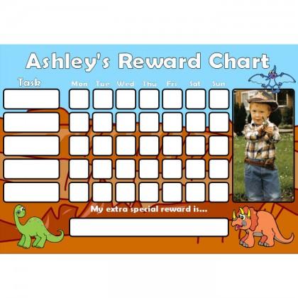 Dinosaur Reward Chart Task with Days Photo