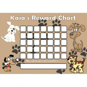 Dog Reward Chart Blank