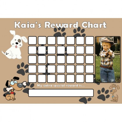 Dog Reward Chart Blank Photo