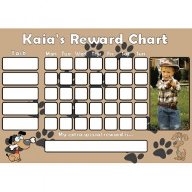 Dog Reward Chart Task with Days Photo