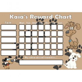 Dog Reward Chart Task with Days