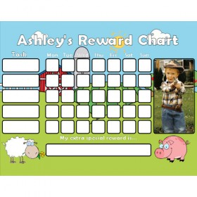 Farm Reward Chart Task with Days Photo