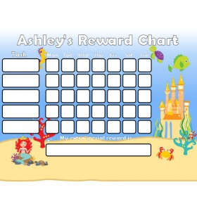 Mermaid Reward Chart Task with Days