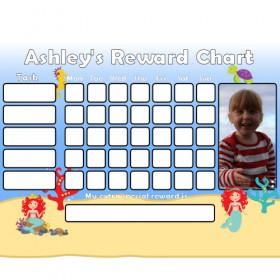 Mermaid Reward Chart Task with Days Photo