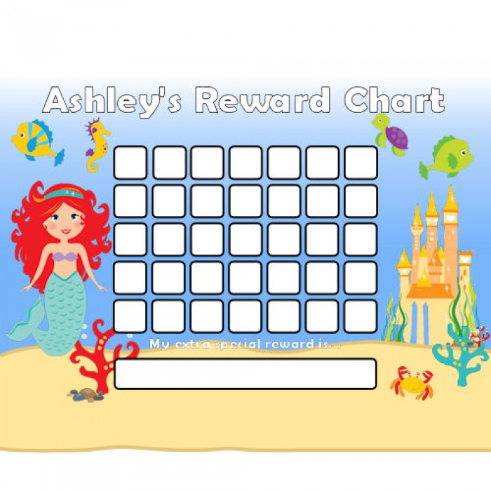 Mermaid Reward Chart Blank – Blank Reward Chart