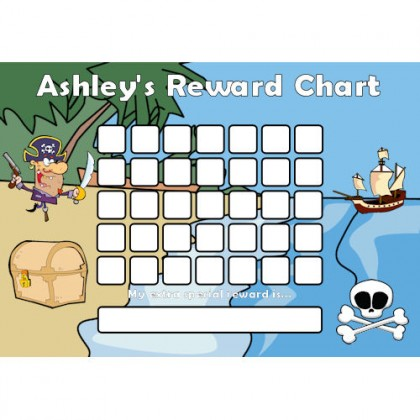 Pirate Reward Chart Blank