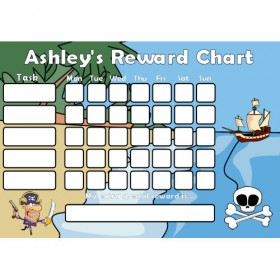 Pirate Reward Chart Task with Days