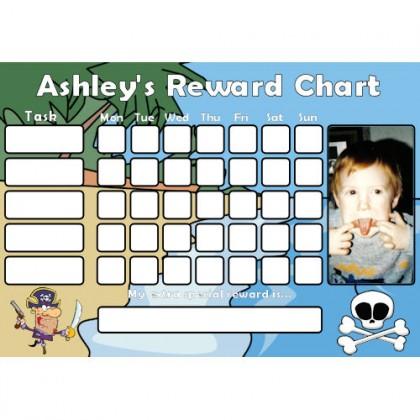 Pirate Reward Chart Task with Days Photo