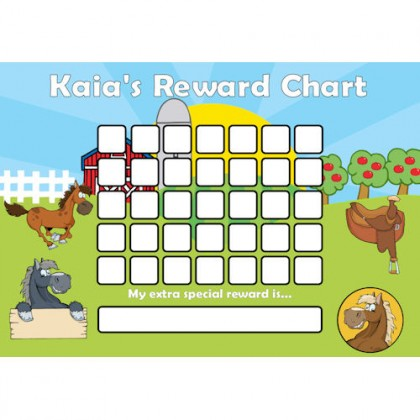 Pony Reward Chart Blank