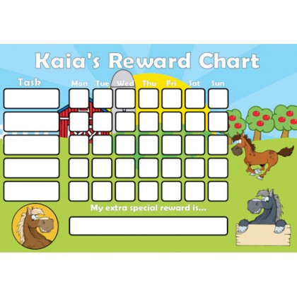 Pony Reward Chart Task with Days