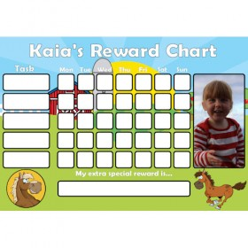 Pony Reward Chart Task with Days Photo