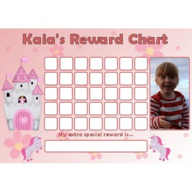 Princess Reward Chart Blank Photo