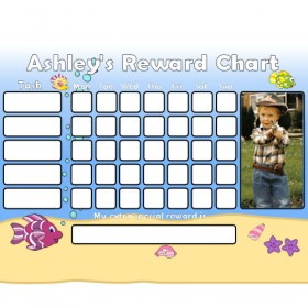 Seaside Reward Chart Task with Days Photo