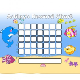 Seaside Reward Chart Blank