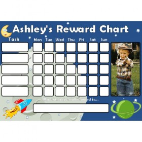 Space Reward Chart Task with Days Photo
