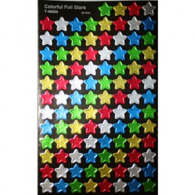 Stickers - Colourful Foil Stars