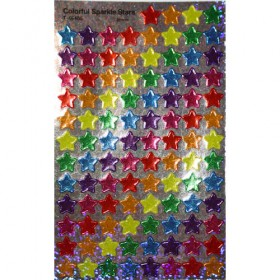 Stickers - Colourful Sparkle Stars