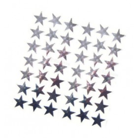 Stickers - Silver Shiny Stars