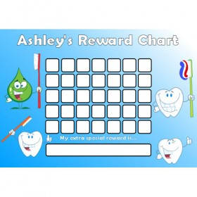 Brushing Teeth Reward Chart Blank Blue