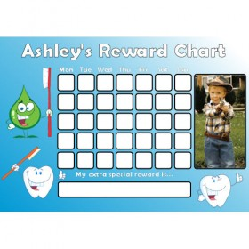 Brushing Teeth Reward Chart Photo Blue