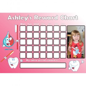 Brushing Teeth Reward Chart Photo Pink