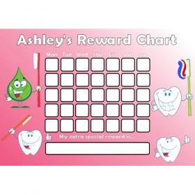 Brushing Teeth Reward Chart Days Pink